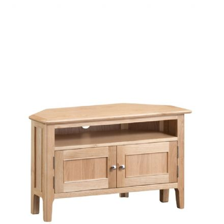 Newhaven Oak Corner TV Unit